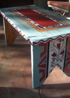Custom painted Aztec with a Twist Bench