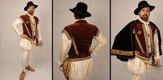 Elizabethan courtier's suit. Tudor Costumes, White Costumes, Black And White Costume, Elizabethan Costume, Courtier, Renaissance Men, Doublet, Hipster Fashion, Costume Dress