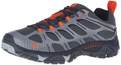 Merrell Mens Moab Edge Waterproof Hiking Shoe Grey 9 M US -- See this great product.(This is an Amazon affiliate link and I receive a commission for the sales)