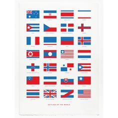 Flags Print - screen print by Crispin Finn at Soma Gallery, Bristol