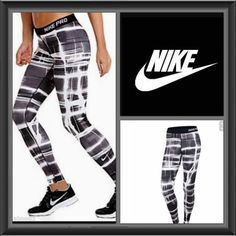 Nike Pro Dri Fit Legging  Black/White 634933 NWT Nike Pro Legging support your stride with a tight, streamlined fit that stays in place and a smooth feel made for miles.. 80% polyester, 20% spandex. Machine wash cold, tumble dry low. Imported. Nike Other