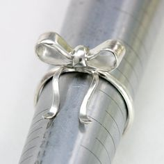 Sterling Silver Bow Ring  made to order in your by ScarlettJewelry, $58.00
