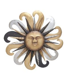 Take a look at this Sun Face Wall Art by UMA Enterprises on #zulily today!  sc 1 st  Pinterest & Celestial Sun Wall Decor Wood Pattern Impressive southwest or ...