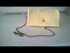 plektew tsantew me belonaki Crochet Bag Tutorials, Crochet Handbags, Handmade Bags, Crochet Hats, Diy Crafts, Purses, Knitting, Youtube, Crochet Pouch