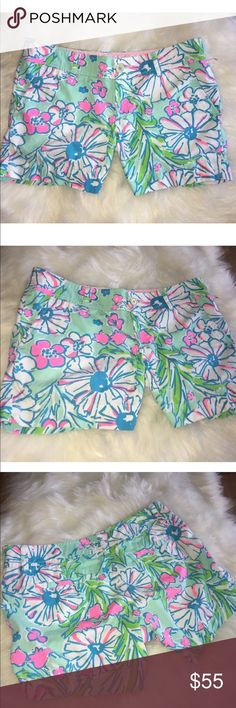 Lilly Pulitzer Callahan shorts Size 4 gently used condition Lilly Pulitzer Shorts