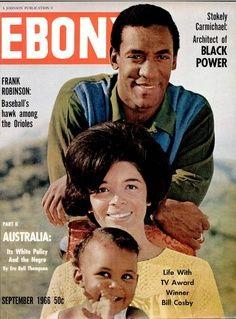 Ebony Magazine Cover 1962 | Bill & Camille Cosby, Ebony, September 1966.