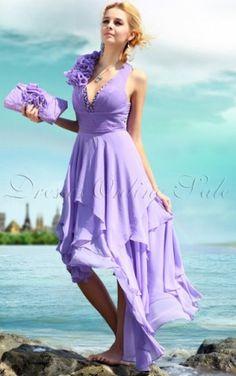 für großes Bild wälzen    Vergrößern >      Purples Scheide Tee Länge Halfterneck Kleid