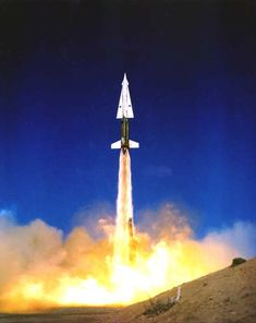 A Nike Hercules air defense missile launch. (U.S. Army)