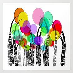 Whimsical and Funky Trees II Art Print by Kippygirl - $18.72