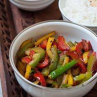 Capsicum Masala Recipe - Capsicum (Bell Pepper) Stir Fry Recipe