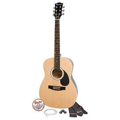 "Maestro by Gibson 38"" Parlor Size Acoustic Guitar Kit - Natural Finish 