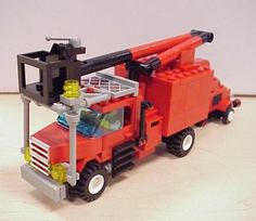 Tree service truck: A LEGO® creation by Pierre Normandin : MOCpages.com