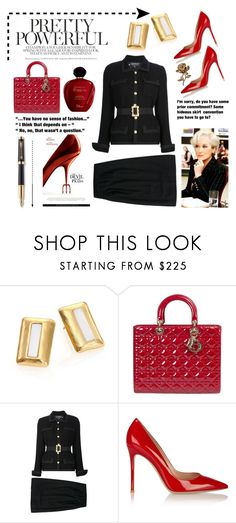 Pretty Powerful. ... by conch-lady on Polyvore featuring Chanel, Gianvito Rossi, Stephanie Kantis, Parker, Prada, Satine and powerlook