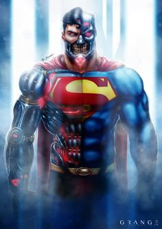 The Evil Cyborg Superman by Grange-Wallis.deviantart.com on @DeviantArt