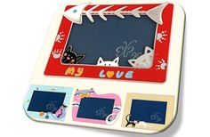 Adorable Cat Hunting Picture Frame(blue/red)/헌팅 캣 액자(블루/레드)