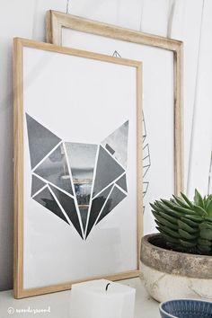 diy geometrisk kunst til barnerommet // diy geometric kids room art | wonderwood
