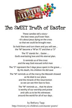 Gallery of best 25 easter poems ideas on easter story - m m easter poem