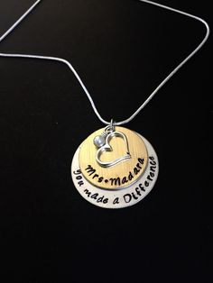Personalized Teacher Necklace-Teacher's by 3sisterscollections