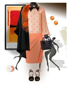 """""""Black and orange #contest 2"""" by gagenna ❤ liked on Polyvore featuring Supersweet, Yves Saint Laurent, Andrew Marc, Kate Spade, Dior, valentino, saintlaurent, blackandorange and wolfandbadger"""