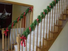 Banister for christmas