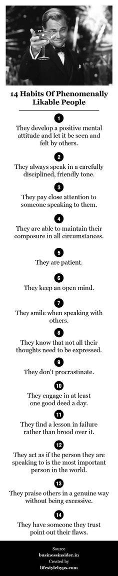 14 habits of phenomenally likable people
