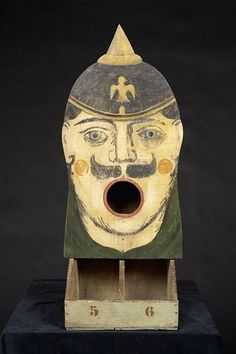 Ball toss game with Prussian soldier, circa 1910. Cornette de Saint-Cyr Auction of Fabienne & François Marchal Collection of European Carousel and Fairground Art
