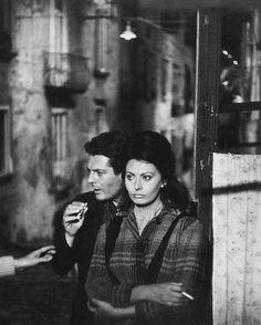 Mastroianni and Loren #cinema
