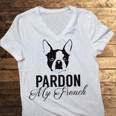 FREE SHIPPING French Bulldog Shirt, Women's trendy tshirt, trendy shirts,diy shirts, dog lover gifts, i love my bulldog shirts, dog shirts,