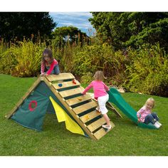 outside play structure. Climb over, play under