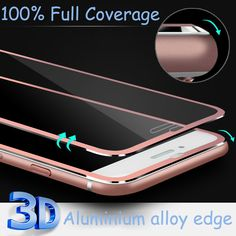 3D Tempered glass Case for iPhone 7 6 6s Plus 5 5s