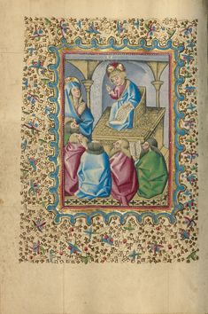 Book of Hours; Unknown; Naples, Campania, Italy, Europe; 1460; Tempera colors, gold, and ink on parchment bound between wood boards covered with Spanish brown calf; Leaf: 17.1 × 12.1 cm (6 3/4 × 4 3/4 in.); Ms. Ludwig IX 12; J. Paul Getty Museum, Los Angeles, California