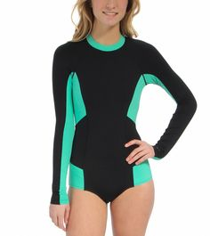 O'Neill Cella L/S Solid Surfsuit at SwimOutlet.com - Free Shipping