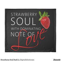 Strawberry Soul Dark Duvet Cover