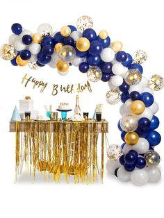 Blowing Up Balloons, Blue Balloons, Confetti Balloons, Gold Confetti, Floating Balloons, Gold Party Decorations, Backdrop Decorations, Graduation Decorations, Birthday Party Decorations For Adults