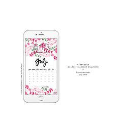 Free desktop and phone wallpaper | July happy tech