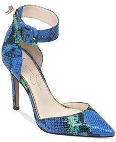 6e0a017fd381 Jessica Simpson Cayna Ankle Strap Pumps Maui Blue Combo 9.5m - Jessica  simpson pumps for women ( Amazon Partner-Link)