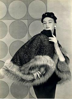 Revillon fur ad, 1953