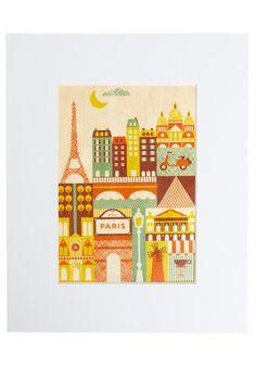 I Wood Leave Tomorrow Print in Paris, #ModCloth