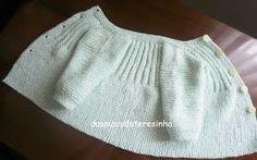 Desta vez tricotei um casaco só para ensinar como o fiz! Baseei-me no meu  outro modelo e ficou assim... lindo!!!... Fui tricotando e. f7121450a39