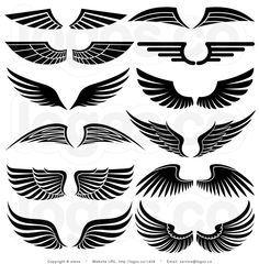 nice wings! and white designs | Collage Black And White Wing Sets By Elena 1408 - Free Download Tattoo ...