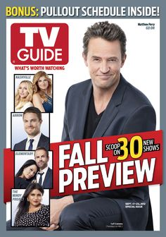 September 17, 2012. Fall Preview, featuring Matthew Perry of NBC's Go On