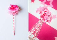 Designer Tissue Paper   Ruff Draft: DIY Tissue Paper Flower from our Birthday Girl Doll Party