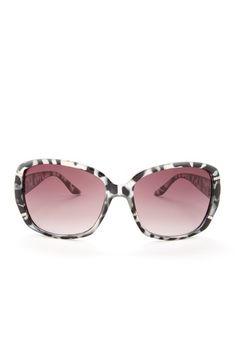 Rectangle Stone Detail Black Sunglasses by Jessica Simpson Sunglasses