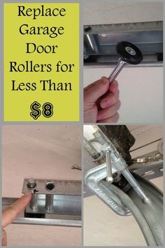 How to replace garage door rollers for less than $8.00