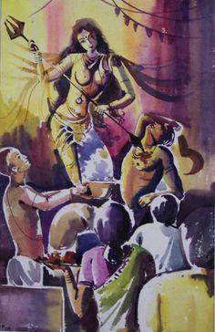 Maa Durga #hindu #durga #art