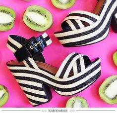 Plataforma P&B da Vicenza  #sandália #vicenza #pink #sapato #calçados #shoes #sotd #tendência #moda #look #outfit #shop #loja #compreonline #lnl #looknowlook
