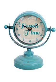 Beach Time Table Top Clock (Teal) DEI http://www.amazon.com/dp/B01B6X3HEA/ref=cm_sw_r_pi_dp_Y2gXwb18B65DT
