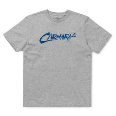 Carhartt Wip SS Paint Script T-Shirt Grey Blue New carhartt wip Collection SS Paint script t-shirt machine wash high quality cotton soft handle feel. Carhartt Wip, Blue Grey, Script, Cotton, Mens Tops, T Shirt, Fashion, Supreme T Shirt, Moda