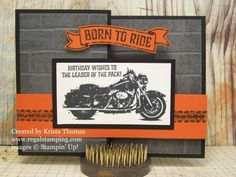 Born to Ride Z Fold Card by Krista Thomas, www.regalstamping.com