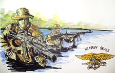 Military Series:  U.S. Navy Seals Time Lapse Drawing